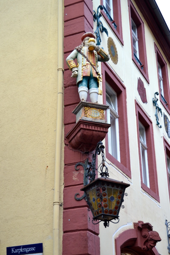 Another great German custom: saints and famous benefactors decorate street corners