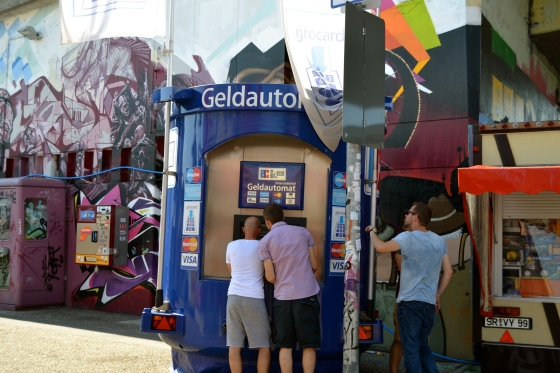 We love it! A portable ATM machine at the fest