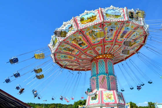 Who can resist a ride on the swings? One of my favorite fair rides