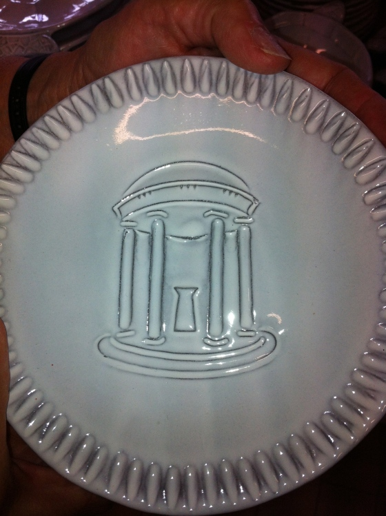 Lindsey found these great plates with the UNC Chapel Hill Old Well