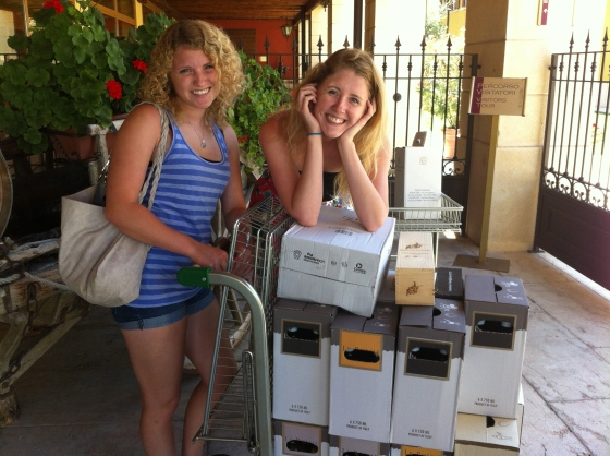 We needed 2 flat carts for our wine purchase. It was a great place to taste and explore