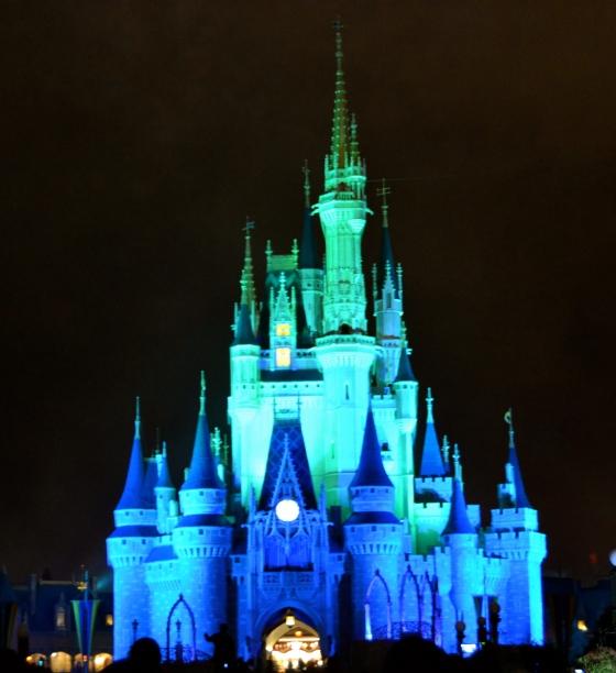 cinderella castle-blue light