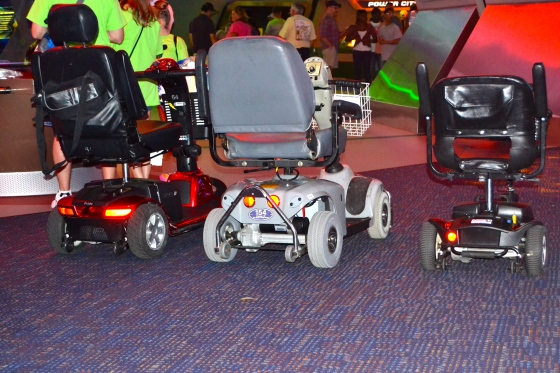 Special parking spaces for electric scooter are all over Disney parks