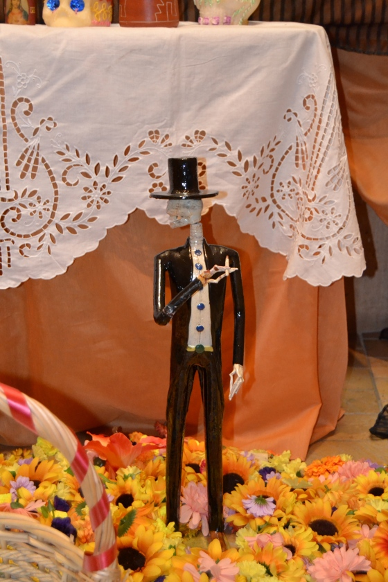 Lucky for me my trip to the church coincided with Dia De Los Muertos  (Day of the Dead)