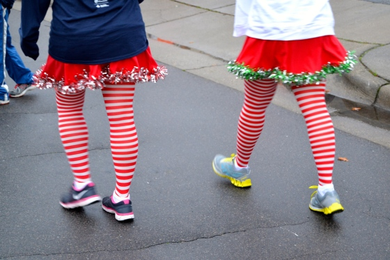 Fancy legs at the Reindeer Run
