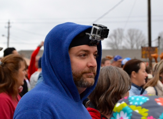 Of course, wearing a go-pro camera to capture your race experience is a must