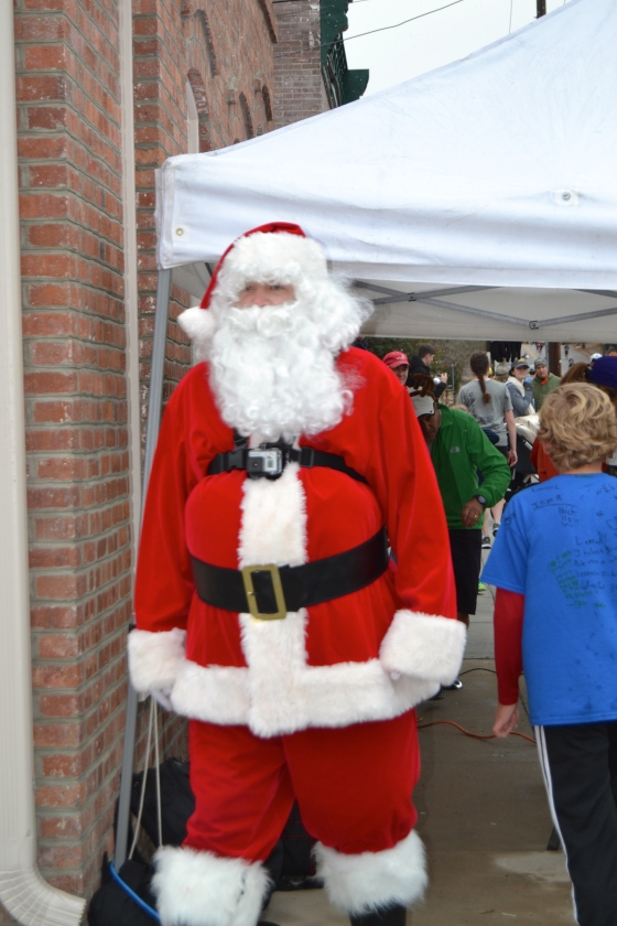 No way a Reindeer Run could be successful without Santa Claus
