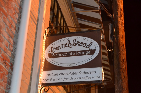 Who knew Asheville had such great chocolate shops? The chocolate lounge features sipping chocolate...mmmmm, memories of Italy