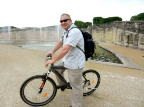 Tim and I rented bikes in the Versailles Garden