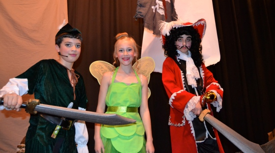 Peter Pan, Tinkerbell and Captain Hook