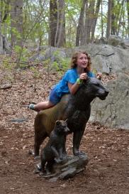 Catching a ride on Simba