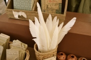 Everyone knows the best tool for writing a love letter is with quill and ink.