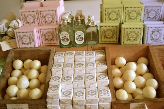 Fine soaps, lotions and bottled root beer for sale in Williamsburg