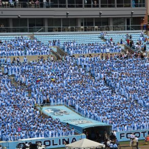 A sea of blue