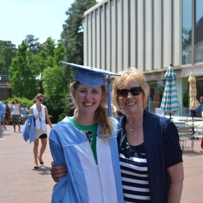 Eleanor Rietkerk with her favorite Carolina graduate