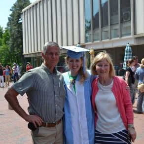 Bill and Eva with the new graduate