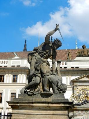 Entrance to Prague Castle..daggers beware!