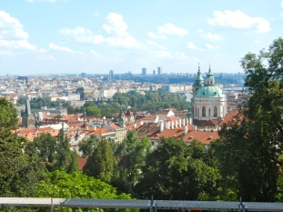 It's good to be king (or president) View of Prague from Castle