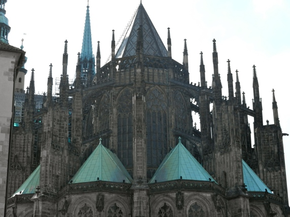 Back view of St Vitus Cathedral, Prague
