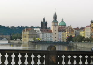 View of Old Town from the Charles Bridge