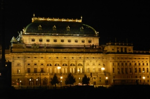 National Opera House at night