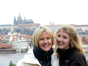 Prague Castle in the background