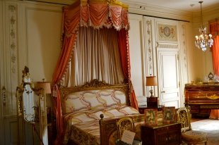 Ms Post's bedroom--fit for a queen