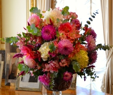 Knock out flower displays--from the Estate Garden-- adorn every room.