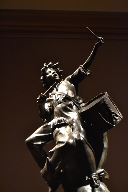drummer boy in bronze