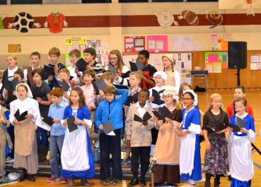our colonial kids performing a few musical selections