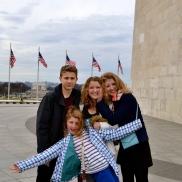 Outside the Washington Monument