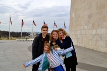 Outside the Washington Monument