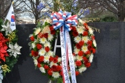 Beautiful wreath at the Korean War Memorial