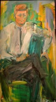 Elaine deKooning does John F Kennedy