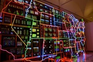 Neon States, Nam June Paik. American Art Museum