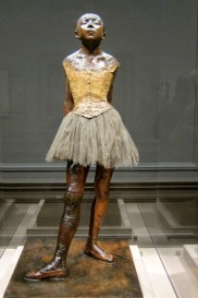 Little Dancer has seen better days but we appreciated Degas' attention to detail in the wax