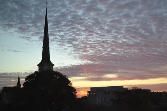 Charleston skyline--Sunday morning