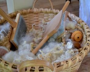 Wool ready to be spun