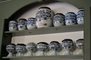 Ceramic jars in the apothecary