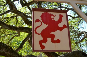 the hanging signage in Williamsburg reminds us of old world Europe