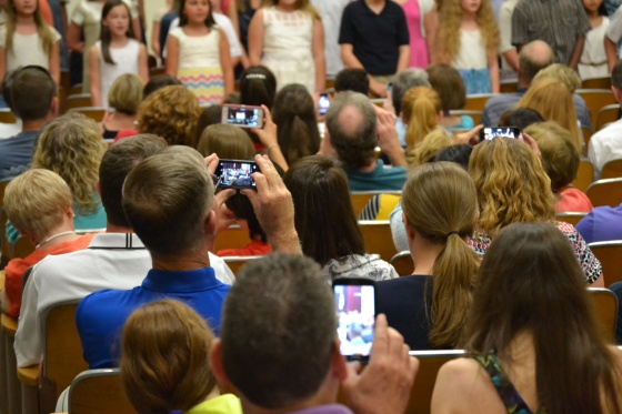 My favorite views during the promotion ceremony included watching parents record the event.