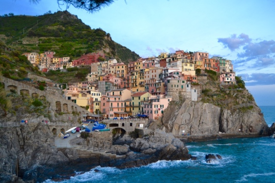 The view of Manarola from the Cinque Terre Trail.