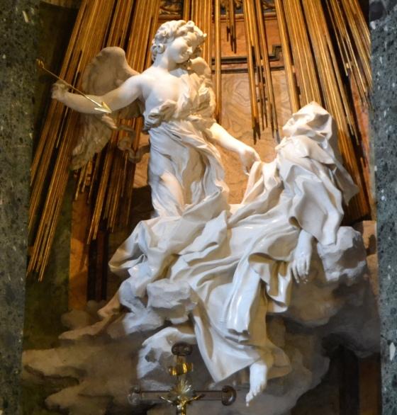Bernini's Ecstasy of St Teresa, Santa Maria della Vittoria Church