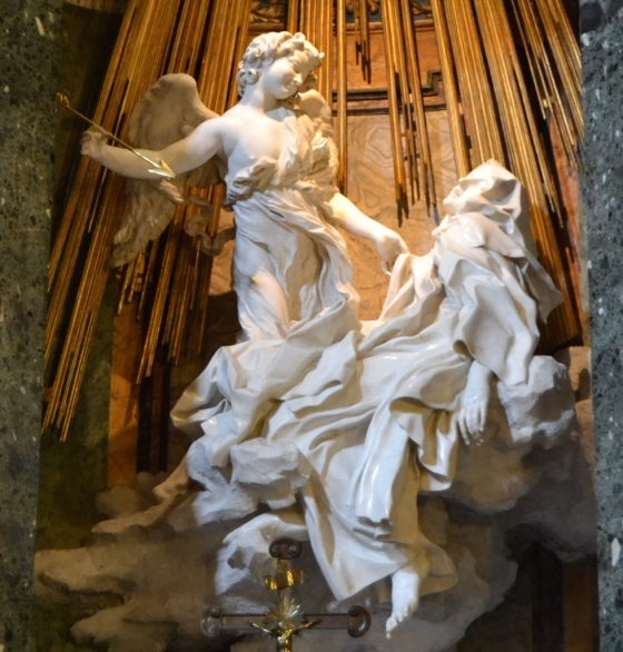 Bernini's Ecstasy of St Teresa, Santa Maria della Vittoria Church