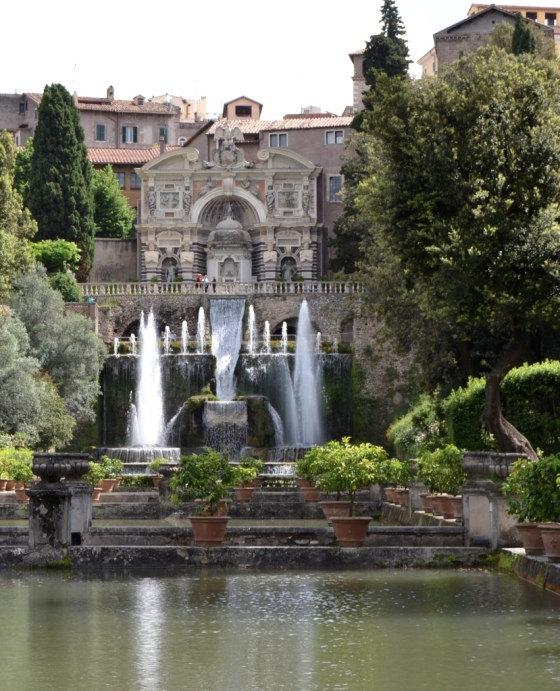 The grand formal gardens of Villa d'Este, Tivoli