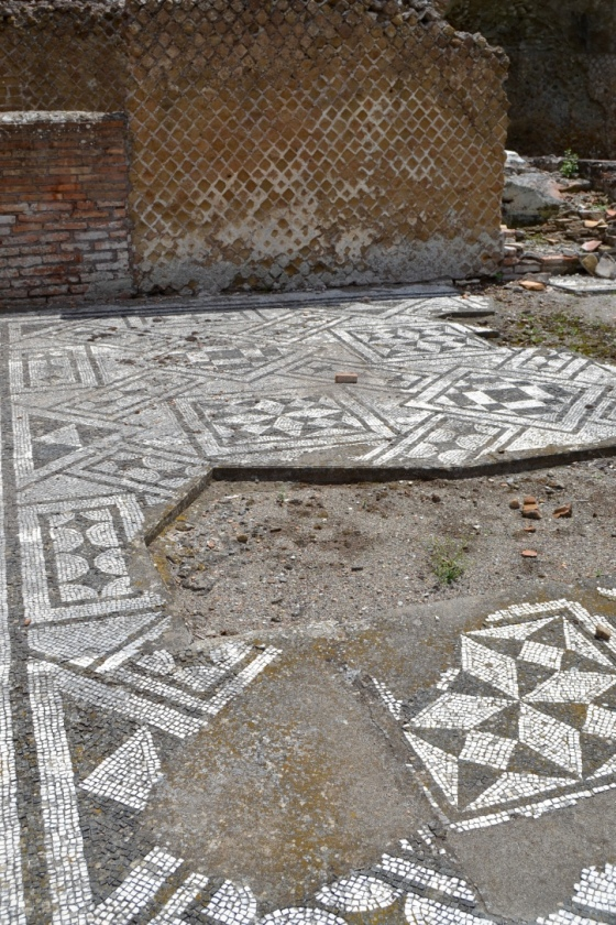 Mosaic floors at Hadrian's Villa