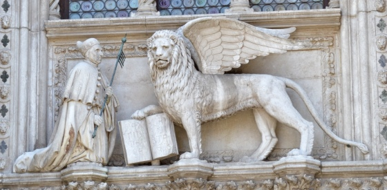 The Lion of St Mark, the classic symbol of Venice.