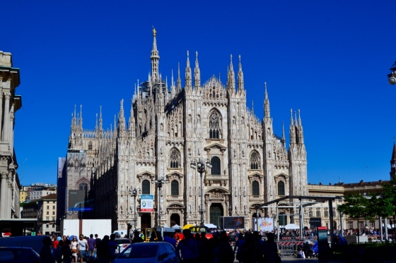 The Milan cathedral with it's beautiful towers