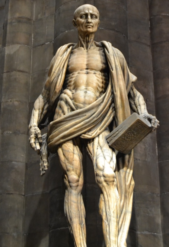 Statue of St. Bartholomew, with his own skin, by Marco d'Agrate, 1562