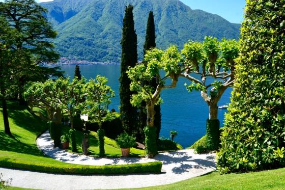View of Lake Como from Villa del Balbianello